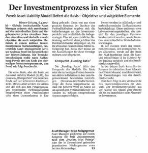 Der Investmentprozess in 4 Stufen