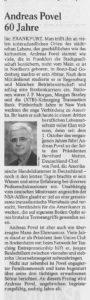 60 Jahre Andreas Povel