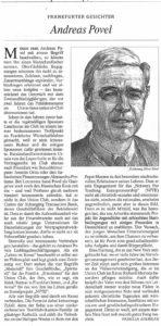 Frankfurter Gesichter - Andreas Povel