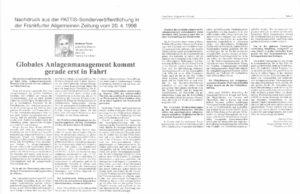 Globales Asset Management kommt in Fahrt